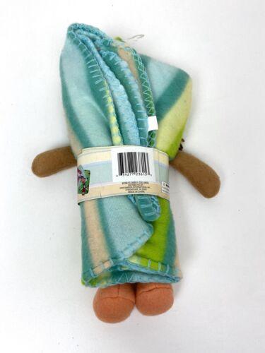 Novelty Blanket Girl Doll 28 X 28 New Cute Light Fleece - $9.49