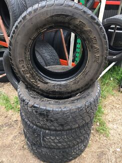 255 70 R16 111T 4x4 tyres set of 4 80% Tread $80ea fitted and balanced