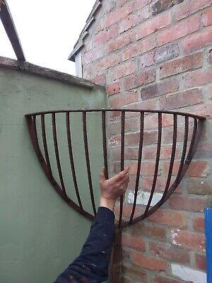 Genuine English Wrought iron corner hay rack garden planter