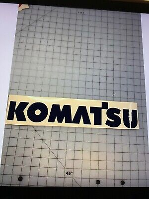 Komatsu 24 Black Vinyl Set Of 2 Mini Excavator Loader 4x4