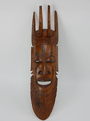 Papua New Guinea Sepik Ancestor Spirit Mask Monochromatic paint 22.5