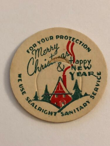 Merry Christmas and Happy New Year Milk Bottle Cap