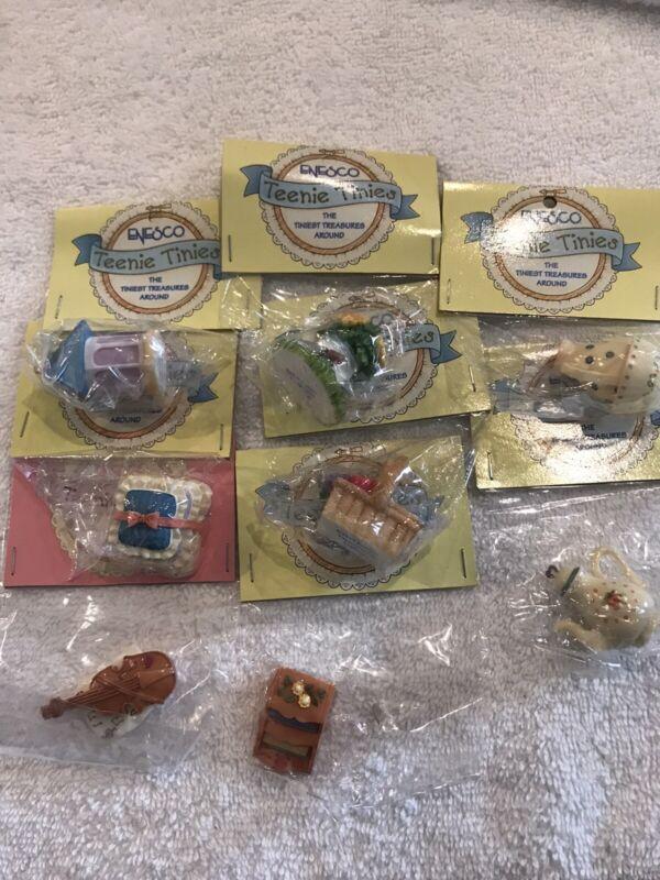 9 Enesco Teenie Tinies Mini Dollhouse  Violin Pillow Teapot Birdhouse Basket