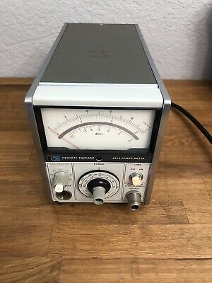 Hp 435a Analog Power Meter Used Hewlett Packard-working Unit