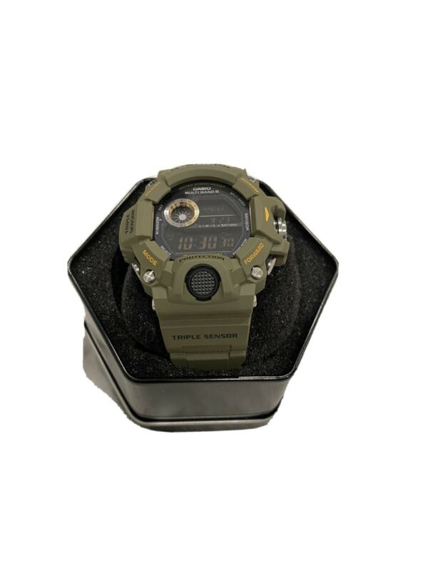 Authentic Casio G-Shock Rangeman Triple Sensor Military Green Watch GW9400-3