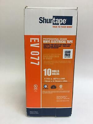 Shurtape Box Of 10 Professional Grade Vinyl Electrical Tape Lead Free Ev 077