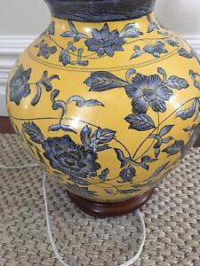 Blue and Yellow lamp base Marrickville Marrickville Area Preview