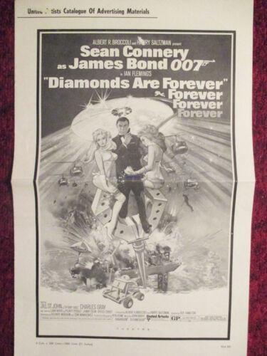 JAMES BOND DIAMONDS ARE FOREVER ORIGINAL AMERICAN PRESSBOOK SEAN CONNERY 1971