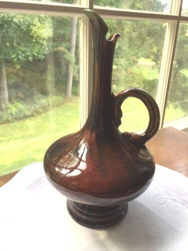 Owens ? Ohio Pottery Drip Glaze Ewer