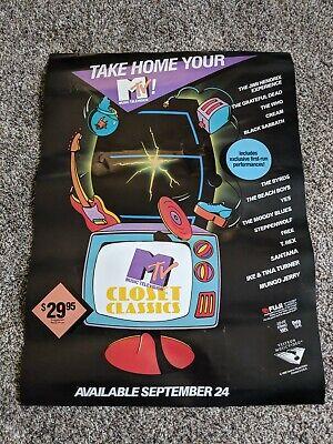 Vintage MTV Closet Classics 1986 Promo Poster Rare HTF