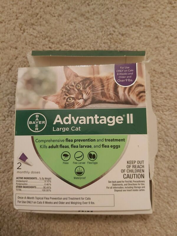 Bayer Advantage II 2-Dose Flea Prevention Treatment For Large Cats over 9 lbs