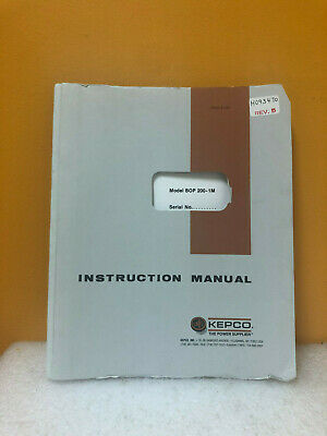 Kepco Bop 200-1m Instruction Manual