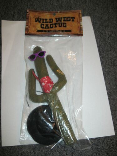 COWBOY CACTUS ANTENNA  Purple Sunglasses, Black Hat