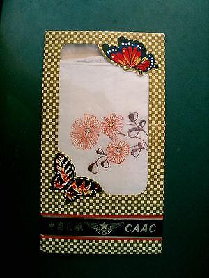 (Women's Elegent Chinese Vintage  Embroidery Handkerchief Set of two original box)