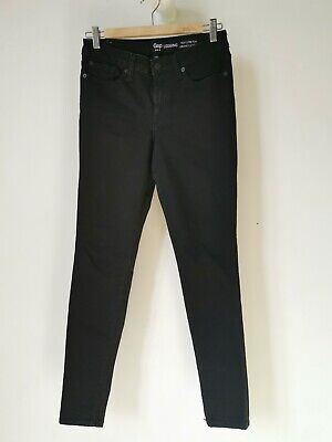 Black GAP Legging Jeans Size 8  Mid Rise Stretch Good Condition