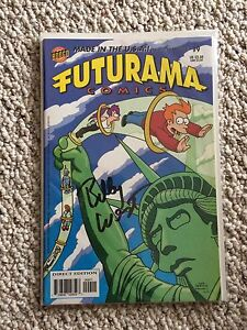 Futurama #9 signed by BILLY WEST