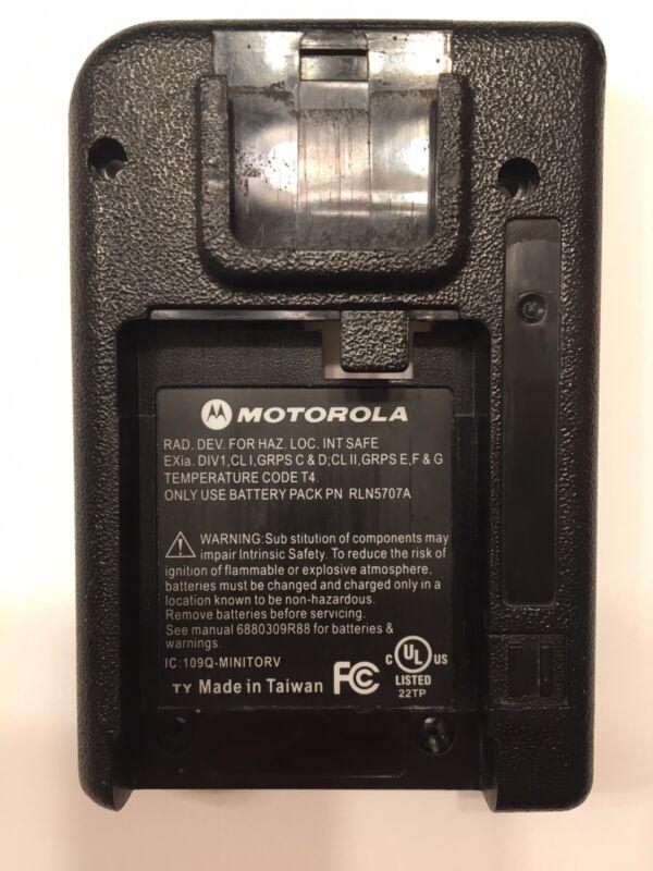 MOTOROLA MINITOR V (5) HOUSING BACK REAR OEM BLACK