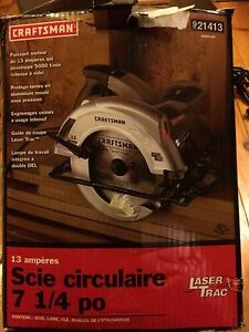 7 1/4 circular saw with laser trac and dual light
