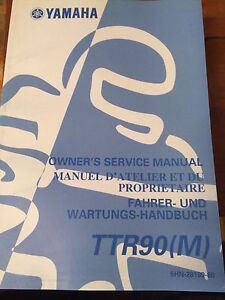 Yamaha TTR90(M) Owners Service Manual