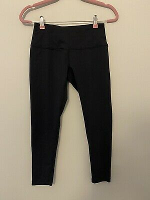 Zella S Crop Leggings Black Compression Athletic Capri Athleisure
