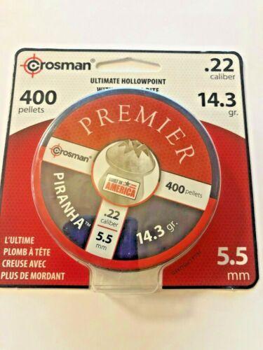 Crosman, 400 pellets, Ultimate Hollowpoint, .22 Caliber, Premier, 14.3 gr., 5.5