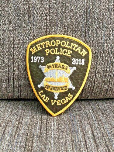 LAS VEGAS METRO POLICE PATCH 45 YEARS OF SERVICE 1973 2018 NEVADA LVMPD RARE TBL