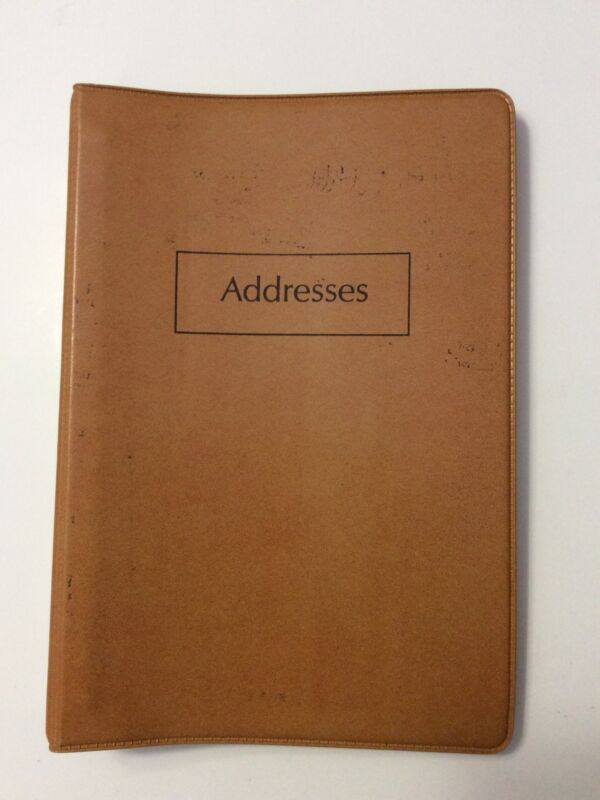 "Vtg 70s Vinyl Address Book 16 Metal Rings with Dividers Ideal Systems Pages 6""x9"