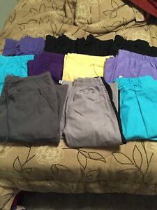 Various scrub tops and bottoms small and xsmall