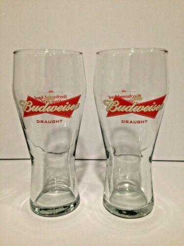 2 16 oz  Budweiser Beer Glasses - Like New!