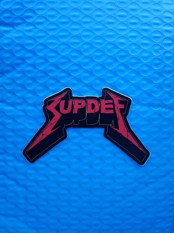 "Superior Defense Suptallica Metallica Sticker Decal Slap SupDef 2.5""x4"""