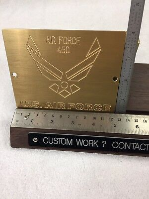 United States Air Force Brass Engraving Plate For New Hermes Font Tray