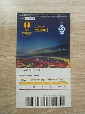Ticket Europa League 2015 : Dinamo Moscou - RSC Anderlecht