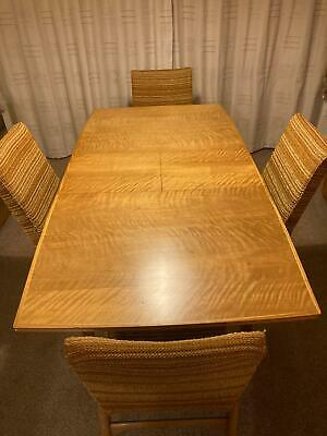 1960's, Very Rare ALFRED COX extending dining table & four chairs. Mid Century.