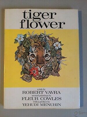 TIGER FLOWER by Robert Vavra Classic Poetry Vintage 1969 with Paintings HC + DJ