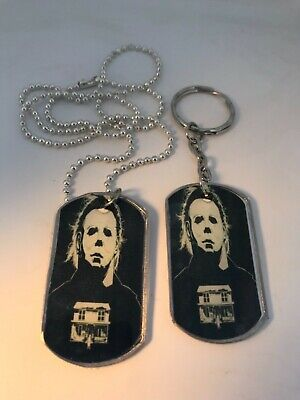 Halloween Tag (MICHAEL MYERS HALLOWEEN HORROR DOG TAG NECKLACE OR KEYCHAIN..YOU CHOOSE)