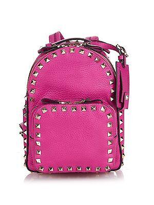 Valentino Garavani Pink Rockstud Leather Mini Backpack $2175
