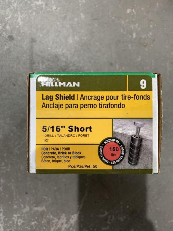 "Hillman 5/16"" Short Lag Shield Qty 50"