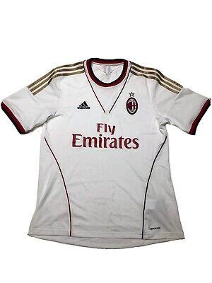Adidas AC MILAN 2013-14 AWAY SHIRT ADIDAS JERSEY SIZE L Climacool Italy 🇮🇹