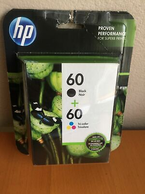 HP 60 Black Tri-Color Combo Pack N9H63FN NEW