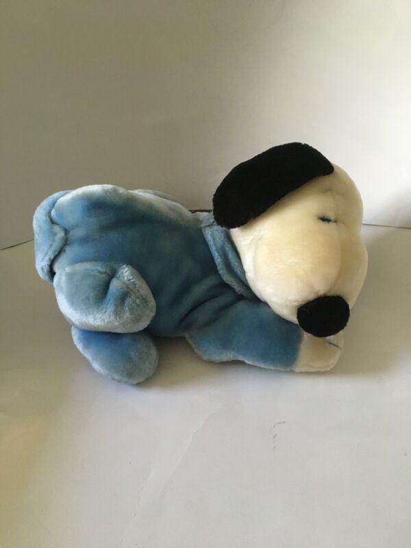 Sleeping Snoopy Vintage Plush With Blue Pjs