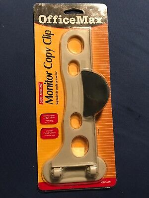 Office Max Monitor Copy Clip Side Mount New In Original Package
