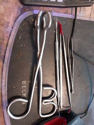 mixed bundle of dentist medical tools as pictured vintage 5 items