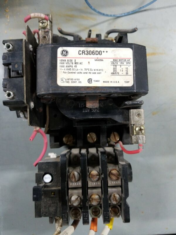 General Electric GE CR306DO** Size 2 Motor Starter With 120 Volt Coil