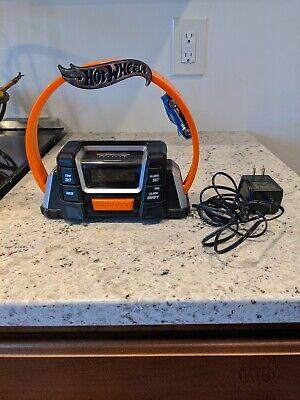 HOT WHEELS 360 ALARM CLOCK RADIO AM FM MODEL HW360