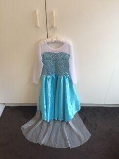 Girls Elsa Frozen Costume