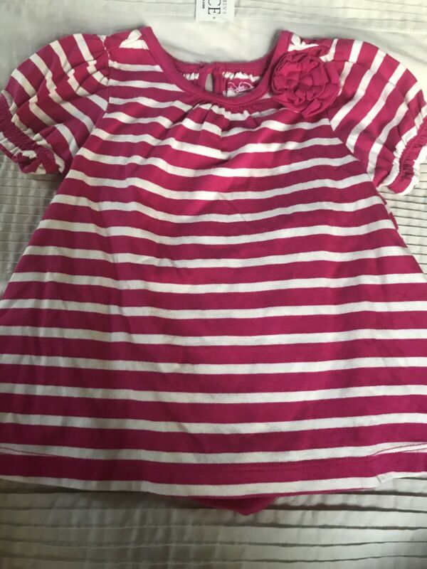 Lot Of 2 Pcs Infant Girl Striped Shirt In Size 6-9 Months The Childrens Place