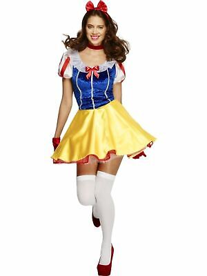 Snow Princess White Womens Costume Ladies Fancy Dress Outfit Fairytale Story Snow Princess Outfit