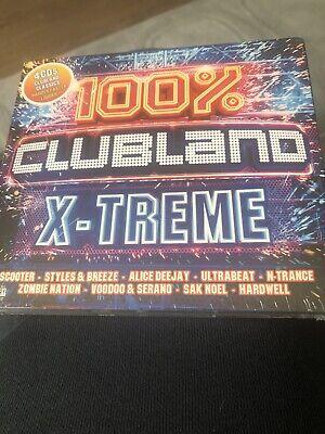 100% Clubland X-Treme New Sealed 4 Cd Digipak Scooter Basshunter Rave House