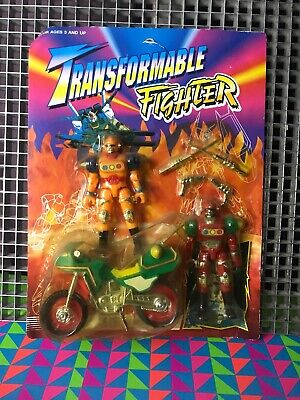 VINTAGE 90's TOY RARE TRANSFORMABLE FIGHTER•Transformers/Powerangers Bootleg