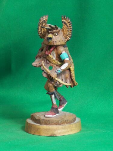 Hopi Kachina Doll -  The Great Horned Owl Kachina by Raymond Chee - Superlative!